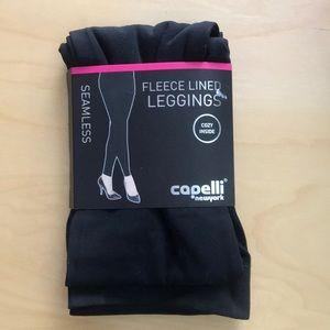 Fleece lined black leggings